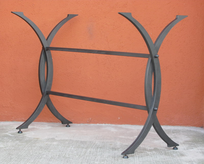 Base tavolo pantografato da giardino, terrazzo e cucina in ferro ...