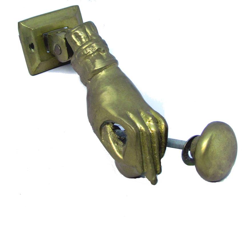 Battente porta in ottone mano piccola fonderia - Batacchio porta ...