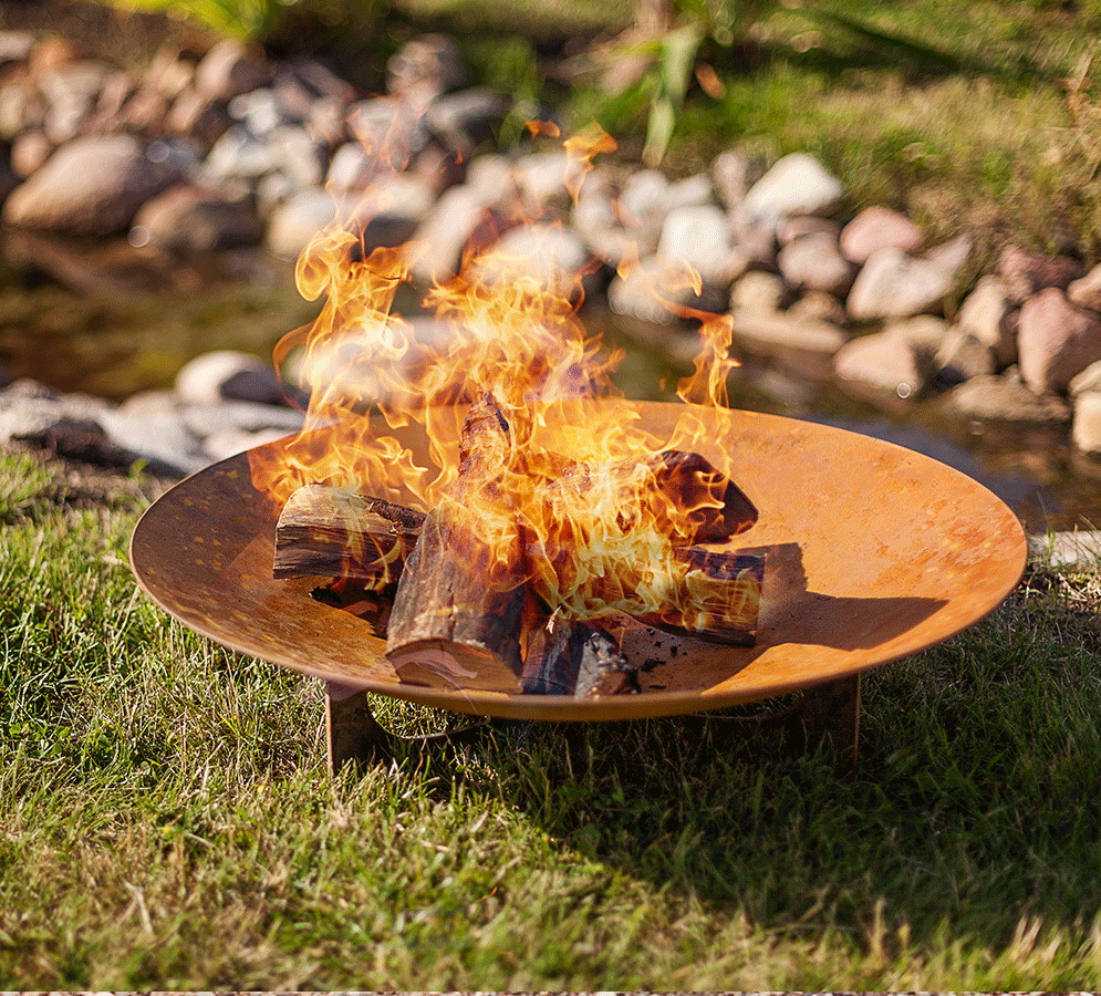 Braciere o barbecue in acciaio per giardino blfcfi 11 fonderia innocentifonderia innocenti - Braciere da esterno ...