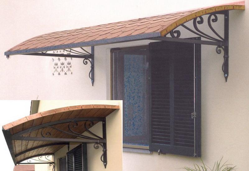 Copriporta o coprifinestra in ferro battuto pacioccona - Struttura in ferro per casa ...
