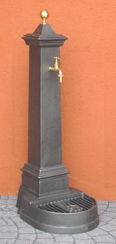 Fontana da giardino alluminio mini punta ottone for Arredo da giardino in alluminio