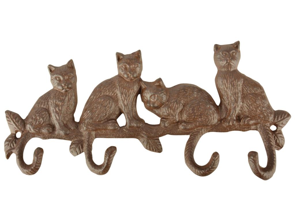 Gancio in ghisa da parete con gatti lh180fonderia innocenti for Parete attrezzata gatti
