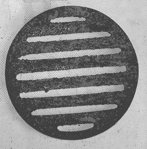 Griglia in ghisa per ceneriere camino diametro cm 15 fonderia innocentifonderia innocenti - Radiatore per stufa a legna ...