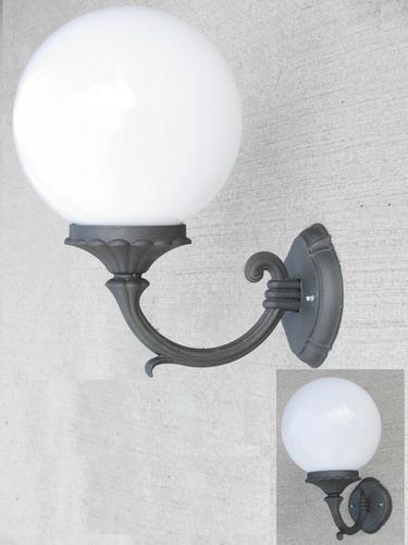 Mensola applique illuminazione parete muro con sfera - Cavo con lampadine da esterno ...