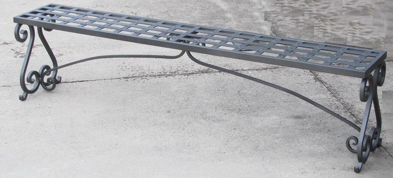 Panca ferro forgiato terrazzo giardino e cucina modello for Panca contenitore da terrazzo
