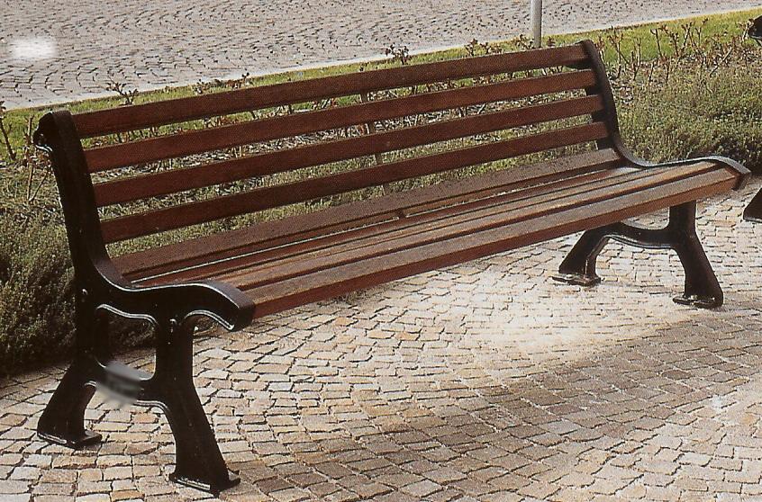 Panchina roma ghisa legno esotico giardini parchi piazze for Archi arredo roma