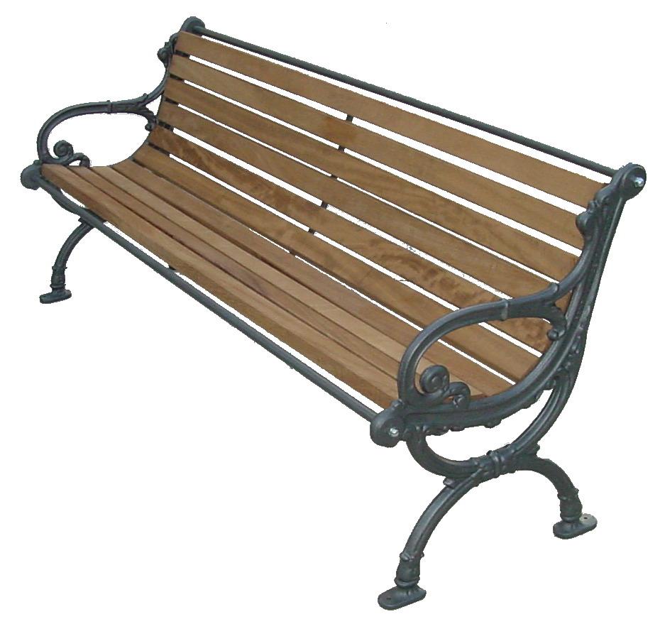 Panchina tedesca legno esotico per parco e giardino 4017 - Panchine da esterno in ferro ...