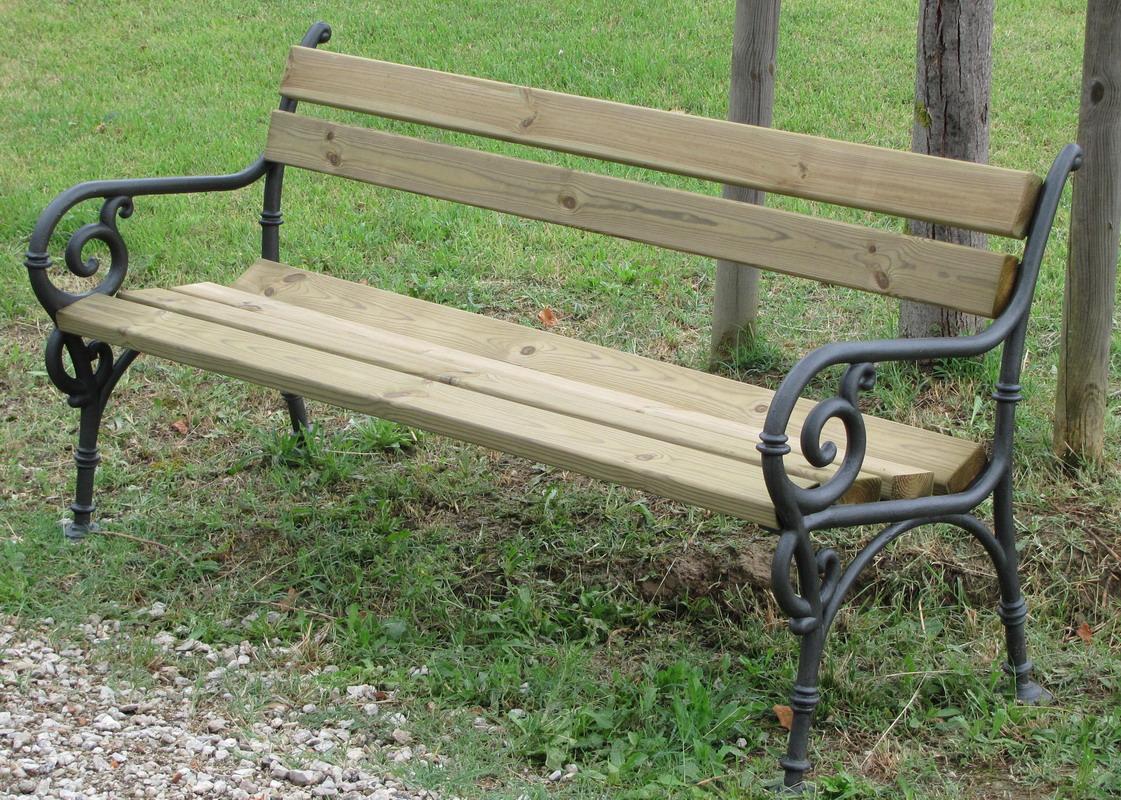 Panchina vienna arredo urbano legno pino 4007 pino - Portabici in legno ...