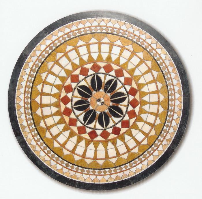 Piano Mosaico Circolare Tavolo Interno Esterno. R-15 ...