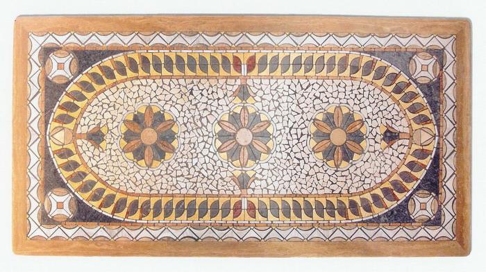 Piano tavolo rettangolare mosaico interno esterno rt 17 fonderia innocentifonderia innocenti - Mosaico per esterno ...