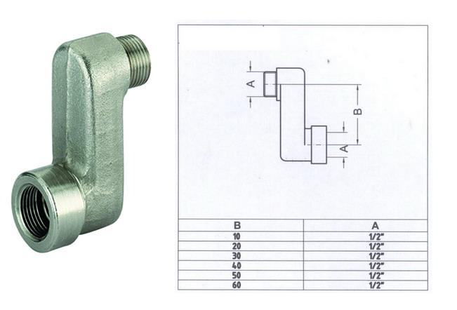 Raccordo eccentrico per radiatori termosifoni caloriferi for Raccordo da pvc a rame