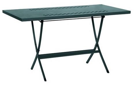 Tavolo in ferro pieghevole da esterno per veranda portico for Tavolo per veranda