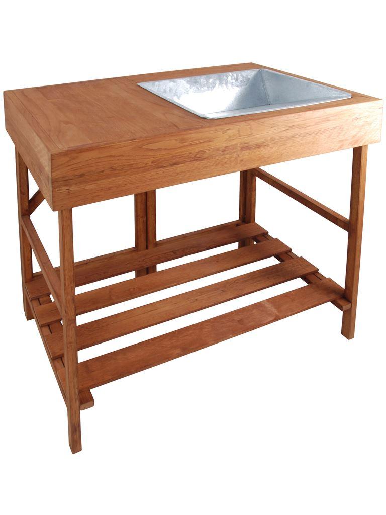 Tavolo o banco da lavoro in legno naturale gt35 fonderia innocentifonderia innocenti - Tavolo da lavoro in legno ...