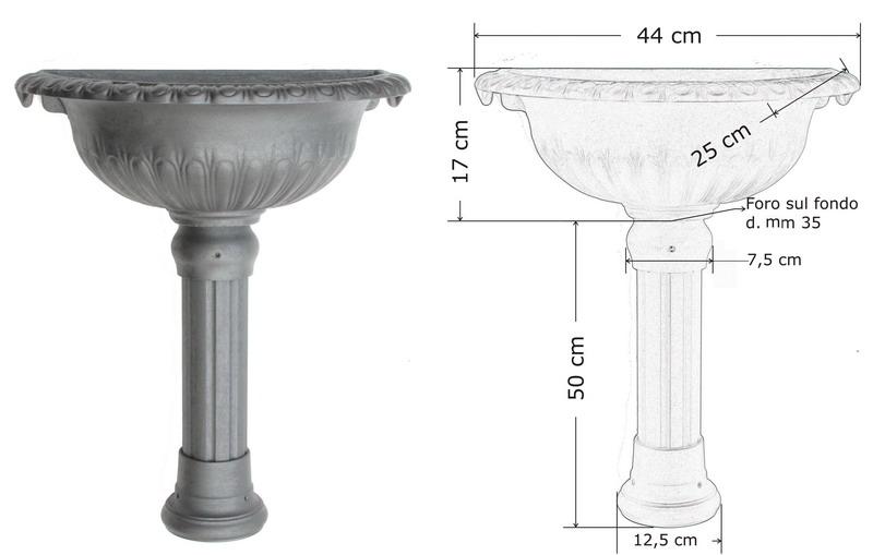 Lavandini per esterno elegant lavabo per cucina in pietra for Copri muro esterno prezzi